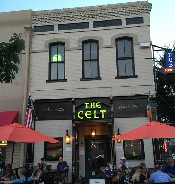 The Celt located on the square in Historic Downtown McKinney, TX