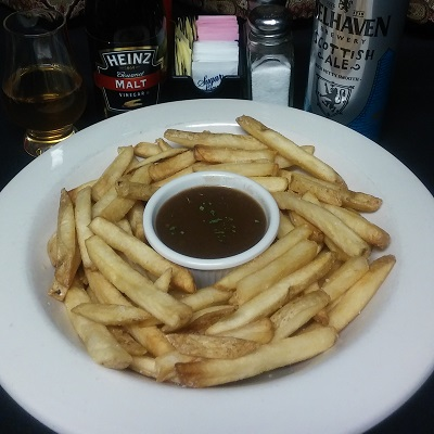 Chips & Curry or Brown Gravy